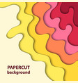 background with colorful paper cut shapes 3d vector image vector image