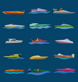 boat speed motorboat yacht traveling in vector image vector image