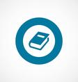 book bold blue border circle icon vector image