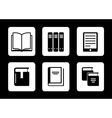 book icons on black background vector image vector image