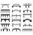 bridge construction silhouette river bridge vector image