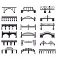 bridge construction silhouette river vector image