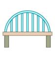 Bridge with round pillars icon cartoon style vector image vector image