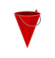 bright flat of red cone shaped vector image vector image