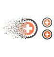 broken pixelated halftone medical stamp icon vector image vector image
