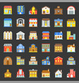 building construction flat icon set 33 vector image vector image