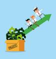 business teamwork making money vector image