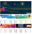 calendar 2020 vector image