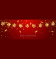 christmas or new year golden snowflake decoration vector image vector image