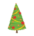 Christmas tree vector image