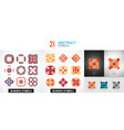 collection of color bright abstract geometric vector image