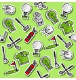 Colored golf pattern vector image