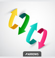 colorful 3d arrows arrow symbol design vector image vector image