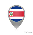 costa rica point vector image vector image