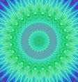 Crystal mandala fractal background vector image vector image