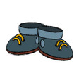 cute boots cartoon vector image