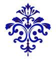 damask decorative floral element vector image