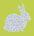Design with bunny from flowers forget me nots vector image vector image