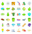eco battery icons set cartoon style vector image vector image