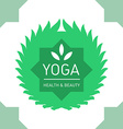 Floral logo template for yoga or fitness class vector image vector image