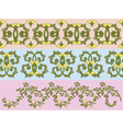 floral textile design vector image