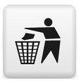 Garbage Recycling Icon vector image