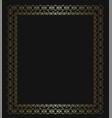 gold openwork frame vector image