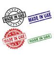 grunge textured made in uae stamp seals vector image