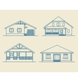 Houses linear1 vector image vector image