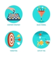 Icons for Internet Marketing vector image vector image