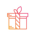isolated colorful gradient holiday gift box icon vector image vector image