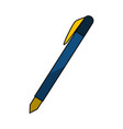 isolated study pen vector image