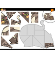 jigsaw puzzle activity with cat