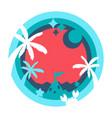 layer depth art concept - happy holiday cartoon v vector image