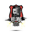 logo template design welding argon vector image