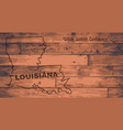 louisiana map brand vector image vector image