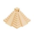 Mayan pyramid in Yucatan icon vector image vector image