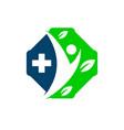 medical logo concept design vector image vector image