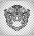 monkey face with ethnic motifs vector image