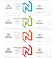 n letter business card light vector image vector image
