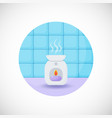 oil burner flat icon vector image vector image