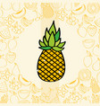 pineapple fruits nutrition background pattern vector image vector image