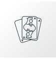 playing cards icon line symbol premium quality vector image