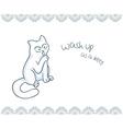 printable nice gift postcard with hand drawn vector image