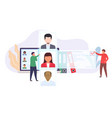 recruitment hiring staff office workers are vector image