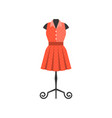 red dress in black mannequin vector image vector image