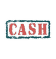 rubber stamp with text cash inside vector image