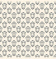 seamless pattern with crystal symbol vector image vector image