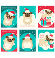 set christmas gift tag card badge sticker vector image vector image