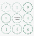 set of hand drawn round frames for decoration vector image
